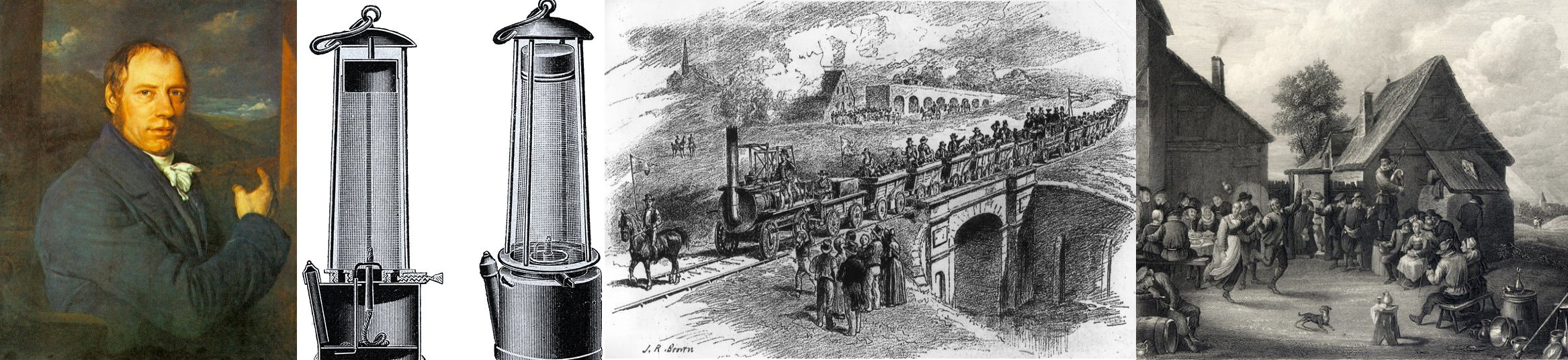 Richard Trevithick, Davy lamp, Stockton & Darlington railway and marriage